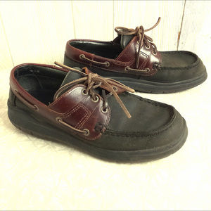 Dexter Black & Brown Leather Boat Oxford Shoes